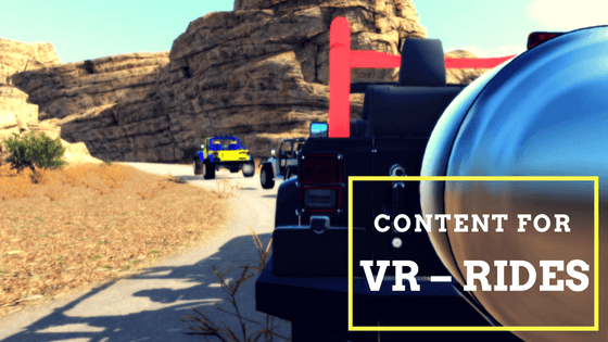 Content for VR – rides